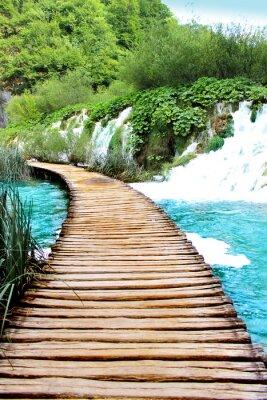 Naklejka Jezioro Plitvice, Chorwacja magiczne jazdy