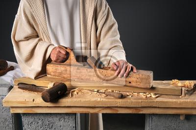 Jezus z płaszczyzną Wood