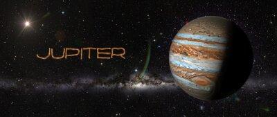 Naklejka Jowisz w przestrzeni kosmicznej.