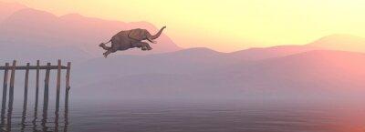Naklejka Jump elephant