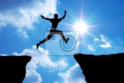 Naklejka jump Man