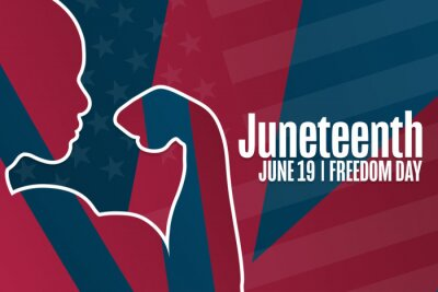 Naklejka Juneteenth. Freedom Day. June 19. Holiday concept. Template for background, banner, card, poster with text inscription. Vector EPS10 illustration.