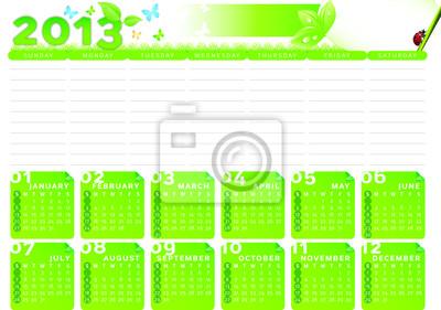 Naklejka Kalendarz Planowanie 2013