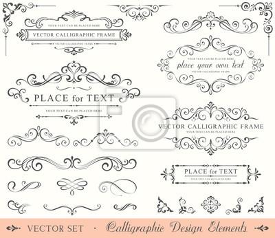 Naklejka Kaligrafii Design Elements