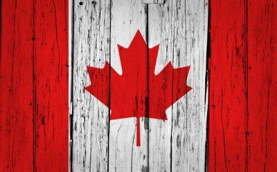 Naklejka Kanada Flaga Grunge