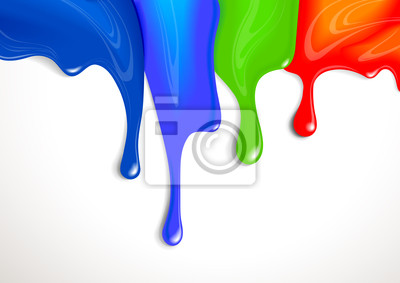 Kapie z farbą