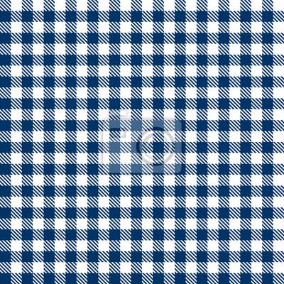 Karo Tischdecken Muster BLAU - endlos