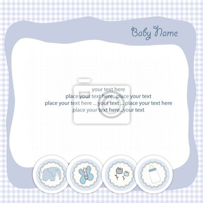 Naklejka karta baby boy anonsu