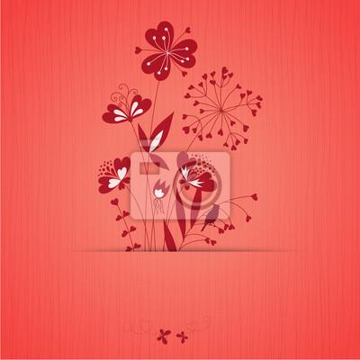 Karta serce Kwiaty
