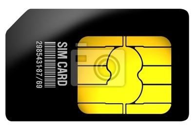 Karta SIM czarny