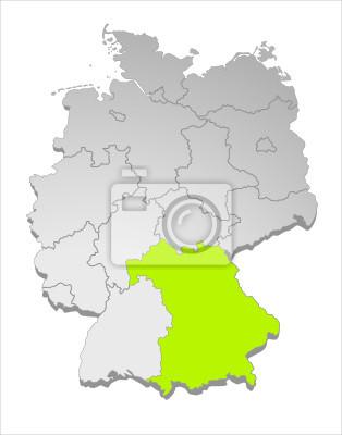 Karte Deutschland Bayern