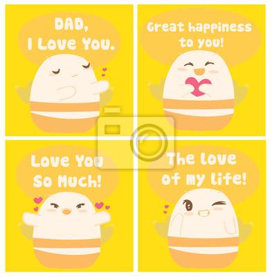 Karty dzień Cute Bee szczęśliwy ojca