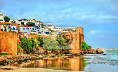 Naklejka Kasbah z Udayas w Rabat, Maroko