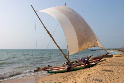 Naklejka Katamaran plaży Negombo, Sri Lanka