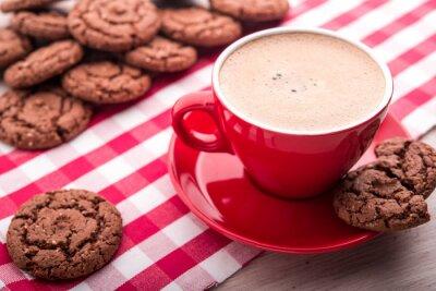 Naklejka kawa i ciasteczka