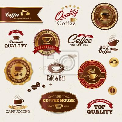 Kawa i elementy etykiety
