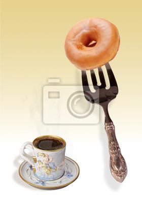 Kawa i pączki.