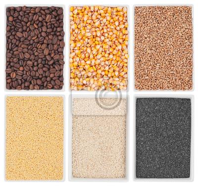 kawa, kukurydza, pszenica, maku, sezamu, proso w płytki ceramiczne