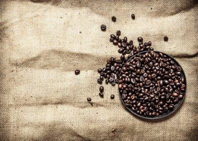 Naklejka Kawa palona na patelni.
