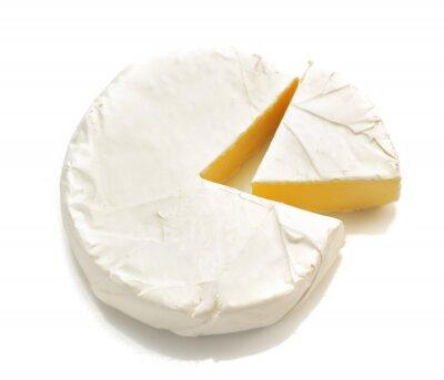 Naklejka kawałek sera sera na białym