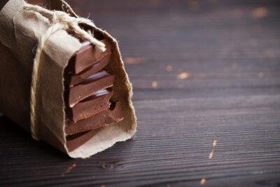 Naklejka Kawałki czekolady zapakowane