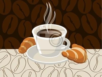 kawę z rogalikami