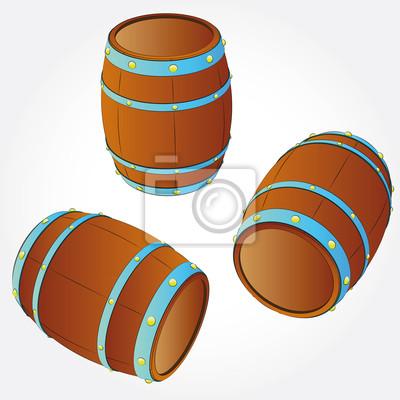 kilka baryłek przechowywania napoju alkoholowego ilustracji wektorowych