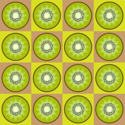 Naklejka Kiwi bez szwu wzór
