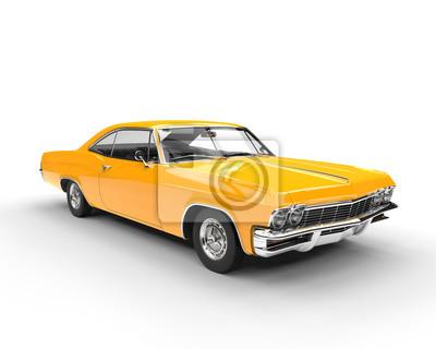 Naklejka Klasyczna mięśni żółty samochód - studio strzał oświetlenie