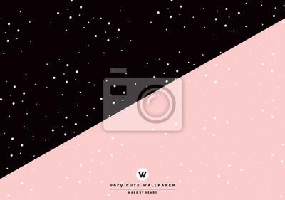 klasyczne czarno-różowy ładny two tone tapety