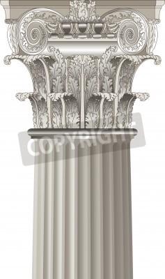 Naklejka klasyczne kolumny