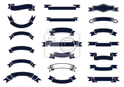 Naklejka Klasyczne rocznika banery wstążki