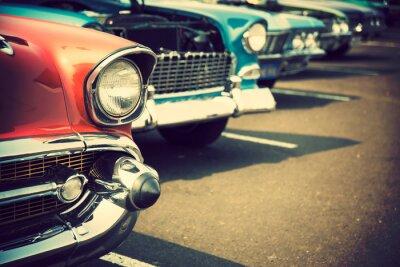 Naklejka Klasyczne samochody w rzędzie