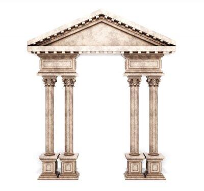 Naklejka Klasyczny korynckie kolumny Arch.