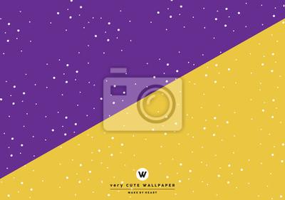 Klasyczny purpurowy i żółty słodki two tone tapety