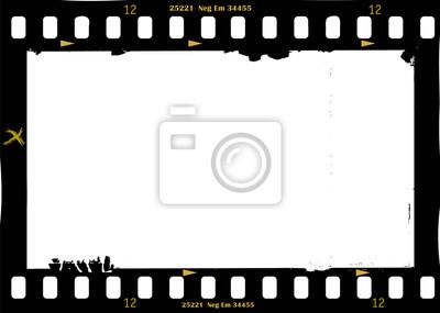 Naklejka klatka filmu, grungy ramki, z kopii wolna przestrzeń, panoramiczny