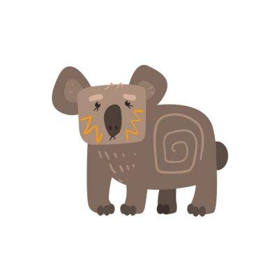 Naklejka Koala Stały płaskim Cartoon Stylizowane