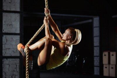 Naklejka Kobiece crossfit sportowca ćwiczeń