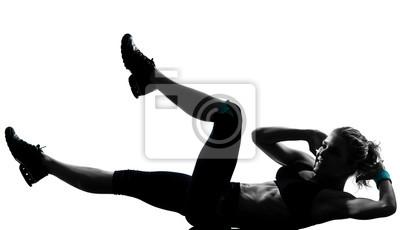 kobieta brzucha trening postawy fitnes pompek