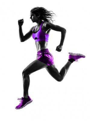 Naklejka Kobieta jogging biegacz sylwetka jogger