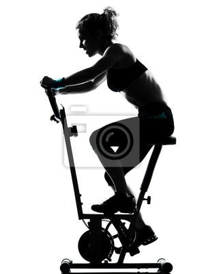 kobieta kolarstwo postawa fitness workout
