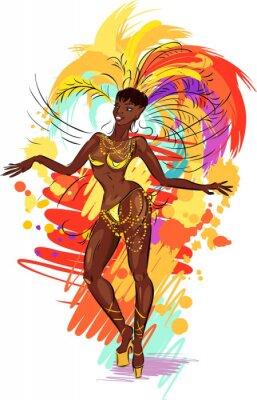 Naklejka Kobieta samba tancerz