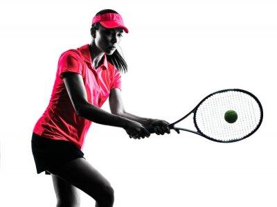 Naklejka Kobieta tenisista smutek sylwetka