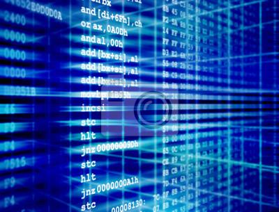 Kod Assembler z programu komputerowego