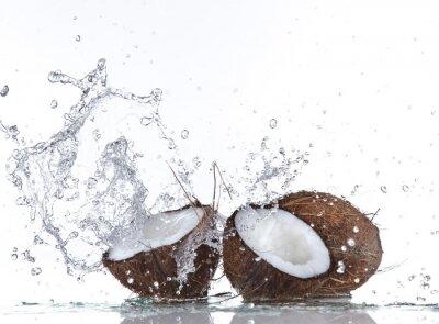 Naklejka Kokosy z wody powitalny