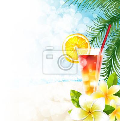 Naklejka Koktajl w Spiaggia, menu