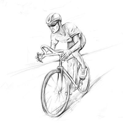 Naklejka kolarz wyścigowy