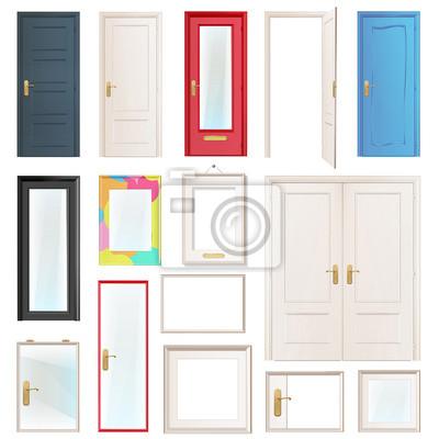 Kolekcja drzwi. Ilustracji wektorowych.