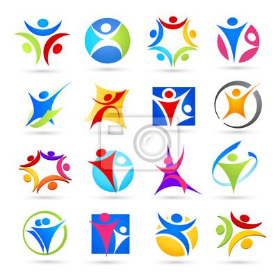 Kolekcja ikony osób abstrakcyjny