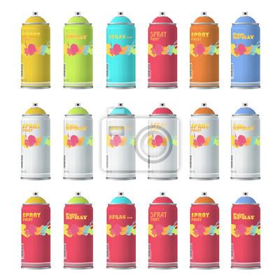 Kolekcja kolorów Spray z graffiti.